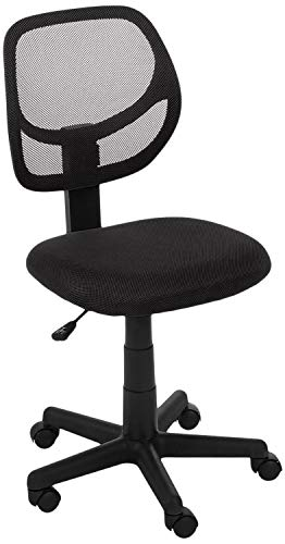 AmazonBasics Low-Back, Upholstered Mesh, Adjustable, Swivel...