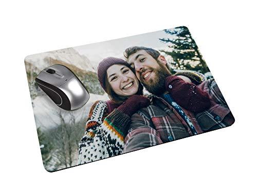 Mousepad mit eigenem Foto - Mousepad im Querformat - seidenmatte Oberfläche für brillante Bildqualität - abwischbare, kratz- und abriebfeste Oberfläche