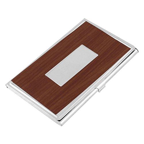 Sourcingmap roestvrij staal met spiegel Pools werk kaarthouder - bruin