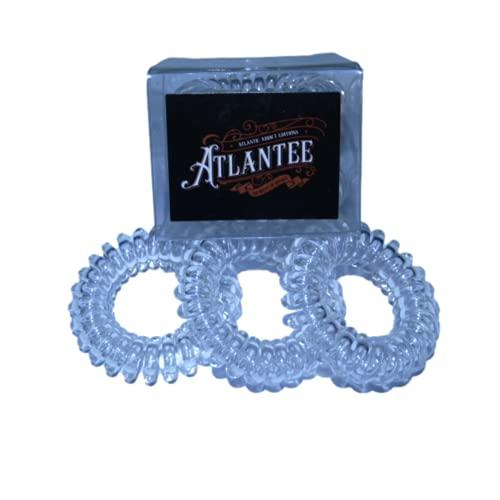 [ATLANTE] Elástico en espiral para el cabello para un peinado ideal, sujeción con delicadeza o una pulsera elegante, brillante y colorida, indispensable para todas las actividades.