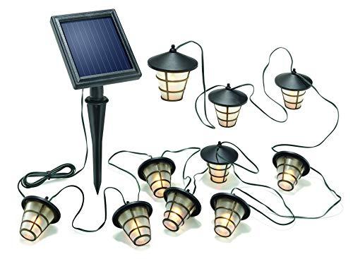 Solar LED Lichterkette Asia Style mit 10 Laternen 3000K warmweiß, 102152 Esotec