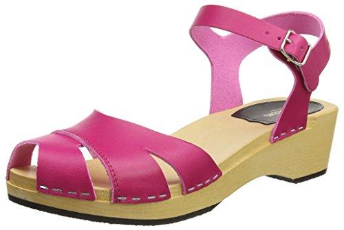 swedish hasbeens Women's Suzanne Debutant Heeled Sandal, Neon Pink, 40 EU/10 M US
