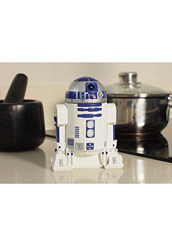 Kurzzeitmesser - 0 bis 60 Minuten - Star Wars - R2 D2 - Roboter / Eieruhr - Küchenuhr Küchenwecker - Droide Starwars - Clone / Kurzzeitwecker - Analog - Stoppuhr - für Kinder & Erwachsene