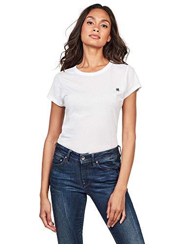 G-STAR RAW Damen Eyben Slim R T Wmn S/S T-Shirt, Weiß (White 110), 34 (Herstellergröße:XS)