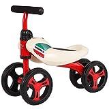 Bicicleta para Niños y Niñas Aby bicicleta de equilibrio, bicicletas bebé de 1 años, de juguetes de montar durante 1 Pedal infantil 4 Ruedas Andador regalo primer cumpleaños del niño de la bici años,
