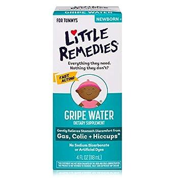 Little Remedies Gripe Water-No Alcohol Sodium Bicarbonate Artificial Color & Gluten Free-Safe for Newborns 4 Fl Oz  Pack of 1
