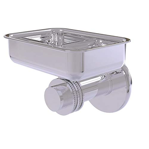 Allied Brass 932D-PC Mercury Collection Wall Mounted Dotted Accents Soap Dish, Polished Chrome