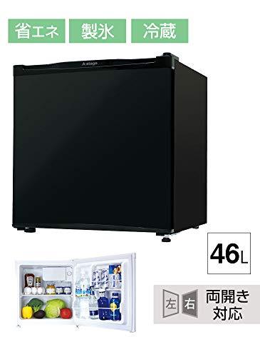 タンスのゲン冷蔵庫46L【左右ドア開き対応】小型製氷室付き省エネ一人暮らしコンパクトメーカー1年間保証ブラック4300006002AM【70514】