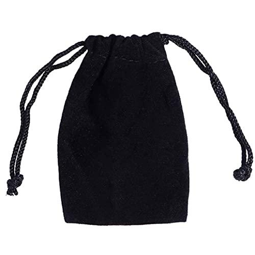Negro De Terciopelo Joyas Bolsas Pequeñas De Boda Joyería del Favor Bolsas De Cordón Bolsas De Dulces Bolsas Favores De La Boda Bolsas De Regalo 7x9cm