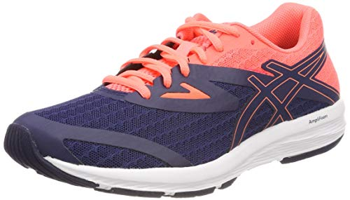 Asics Amplica, Zapatillas de Running para Mujer, Azul (Indigo Blue/Indigo Blue/Flash Coral 4949), 38 EU