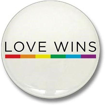 """CafePress Love Wins 1"""" Round Mini Button"""