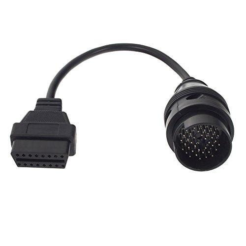 Smartfox Adaptateur de câble DLC femelle 38 broches vers 16 broches OBD2 mâle pour Mercedes Benz W124, W140, W202, S202 de 1987-2000