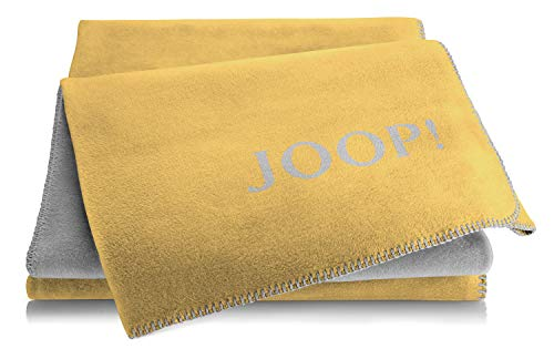 Joop! Plaid Uni-Doubleface   Gold-Graphit - 150 x 200