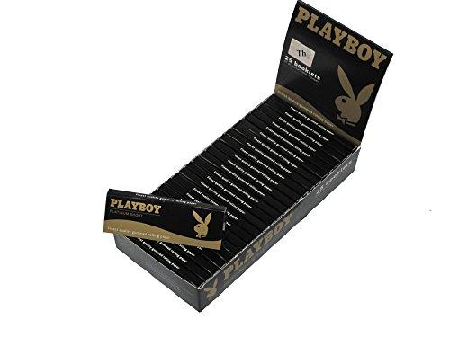 Playboy Zigaretten Paper Papers Platinum Short 1 Karton mit 25 Büchern 1 Booklet 50 Blatt Kurze Paper