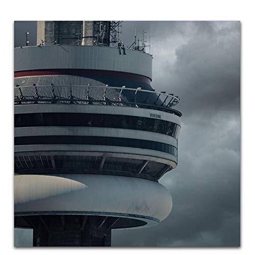 dubdubd Poster und Drucke Drake Views Hotline Bling 2017 Rap Musikalbum Cover Art Poster Leinwand Gemälde Home Decor-50x50cm No Frame