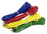 Gocableties - Lote de 200 bridas para cables de color (300 x 4,8 mm), color negro