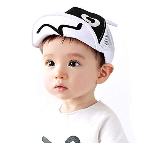 SANFASHION Baby Junge Mädchen Schirmmütze Kappe Mesh Trucker Baseball Cap Sommer Ineinander Greifen Kinder Cap (Weiß)