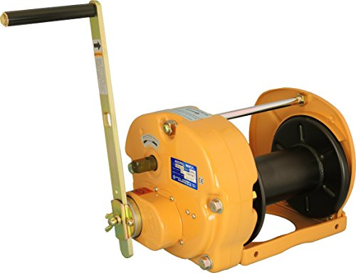 Great Deal! Maxpull Steel Spur Gear Heavy Duty Lifting, Pulling Hand Manual Winch with Automatic Bra...
