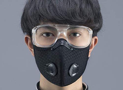 Sportmaske Hauben warme Winddichte Wintermützen für Männer Gesichtsschutz Reitmasken Motorradmasken Antibeschlag atmungsaktive Masken+Schutzbrille+3 Filterelemente