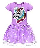 AmzBarley Vestido Princesa de Unicornio Fiesta Niña Tutu para Cosply Cumpleaños,Disfraz Tutu...
