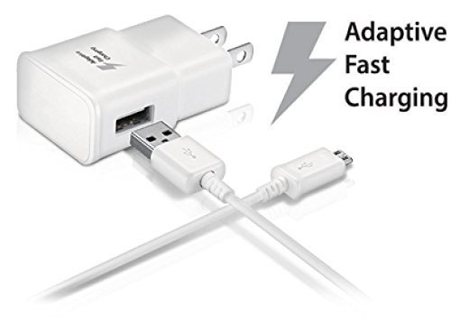T-Mobile Revvl Plus Adaptive Fast 15W Wall Charger and MicroUSB 2.0 Cable Kit! True Digital Quick Charging with dual voltages for 2x faster charging!