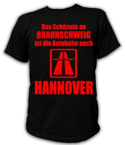 Artdiktat T-Shirt Anti Braunschweig T-Shirt Unisex, Größe XL, schwarz