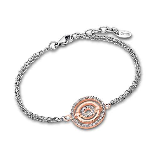 LOTUS Pulsera de plata y oro rosa LS1950-2/2 para mujer, de acero inoxidable, JLS1950-2-2