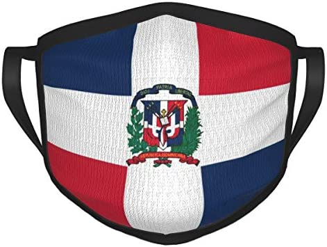 Dominican Republic Flag Reusable Face Mask Cover Anti Dust Mask Black product image