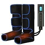 Masajeador de Piernas Masajeador de Pies Eléctrico con 6 Modos, Masaje de Compresión de 3 Intensidades, Carga USB Masaje de Piernas Inalámbrico con Función de Calentamiento para Pies y Pantorrillas