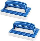 2 Piezas Cepillo Piscina Cepillo de Pared, Limpieza de Piscinas Cepillo de Piso, Cepillo Manual para Piscinas para Una Herramienta de Limpieza Necesaria para Piscina y Piscinas Pequeñas