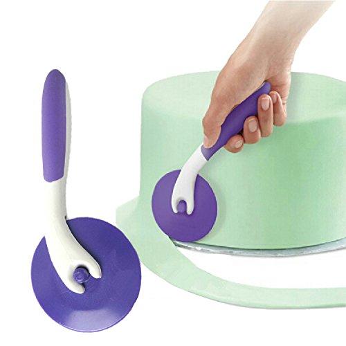 Fondant - Juego de herramientas para cortar rueda de azúcar en relieve, cortador de cinta de Aixin Cutting Tool