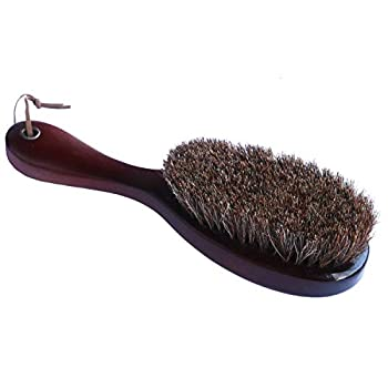 Lint Remover Natural Horsehair Shoes Brush Horsehair and Catalpa Wood Lint brush for Coat Men Suits,Jacket,Shoes,Remove Dust Pets Hair Dry Stains.