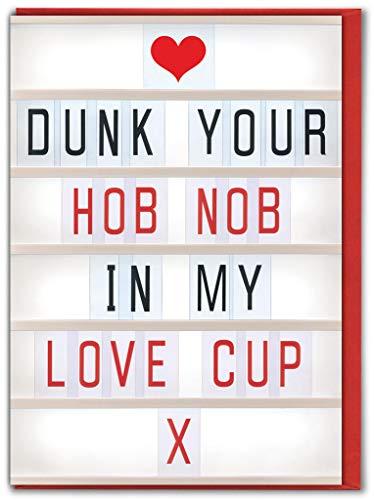 Grappige Rude Humorous 'Kookplaat Nob' Valentijnsdag Kaart