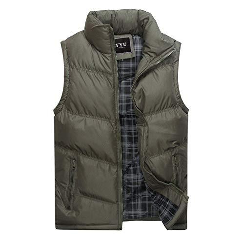 BAONUANY Gilet Mensen, Grijs Heren Jas Mouwloos Vest Winter Mode Casual Jassen Mannelijke Cotton-Gewatteerde Heren Vest Mannen Dikke Waistcoat
