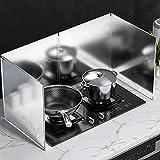 Protector contra salpicaduras de aceite de 4 lados para cocinar con todos los bordes de acero Cocina completamente cerrada Deflector de aceite de acero inoxidable Protector Pantallas antisalpicaduras(
