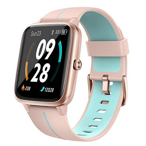 Holabuy Smartwatch, Reloj Inteligente Mujer Hombre Niños con Podómetro Caloría GPS, Pulsera Actividad Inteligente con Monitor de Sueño Pulsómetro, Pulsera Actividad Impermeable 5ATM para Android iOS ✅