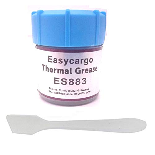 Easycargo 20gr 6.5 W m-k Thermal Compound Paste, Nano-Compound Based High Performance Grease, Cooling Heatsink Paste, Thermal Compound CPU for All Coolers, Thermal Interface Material
