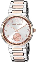 Anne Klein Women's Easy to Read Two-Tone Bracelet Watch