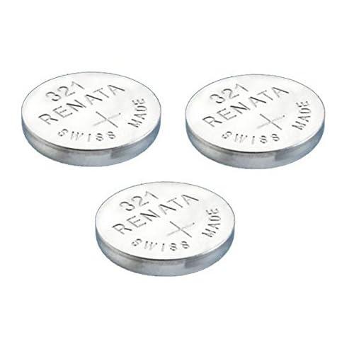 3 x Renata 321 Batteria Orologio Realizzazione Svizzera Argento Ossido 1.5v (SR616SW) Conosciute Anche Come SR616SW, SR65, SR616, SB-AF/DF, 280-73, DA, V321 , D321, GP321, 611, 321