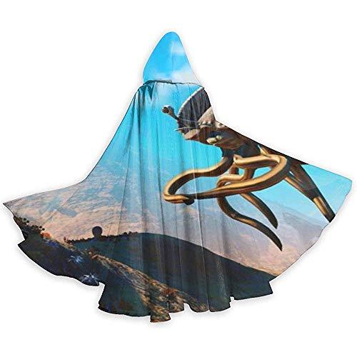 KDU Mode Heks Mantel, Giant Vliegende Spaghetti Mon-Ster Aantrekkelijke Wizard Capes Voor Carnaval Party, 40x150cm
