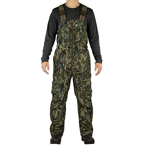 Mossy Oak Sherpa 2.0 Fleece Lined Camo Hunting Bib Overalls for Men, Original Treestand, X-Large