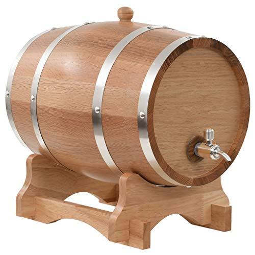 Tidyard Barril de Vino con Grifo Roble Macizo 12 L Kit Cerveza Artesanal