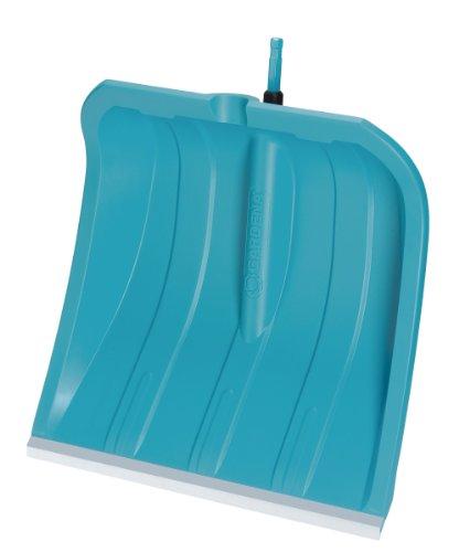 GARDENA combisystem pala de nieve ES 40: pala de nieve con borde de acero inoxidable duradero, hoja de plástico ligero