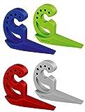 WENKO 50505100 Türstopper und Fensterstopper Multi-STOP Grün, Thermoplastischer Kunststoff (TPR), 11.8 x 7.7 x 2.5 cm, Grün