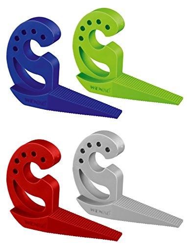 WENKO Türstopper und Fensterstopper Multi-STOP® Grün, Kunststoff (TPR), 11.8 x 7.7 x 2.5 cm, Grün