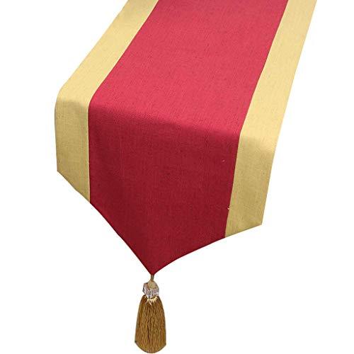 Mesa de Centro Mesa de Centro Mesa de Comedor clasico de Tela Mesa de Centro de Mesa (Color : A, Tamano : 33 * 230cm)