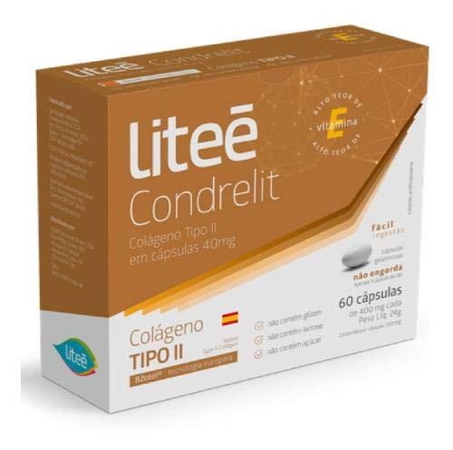 Condrelit - Colágeno Não Hidrolisado 40mg Tipo 2-60 Cápsulas, LITEÉ FARMA