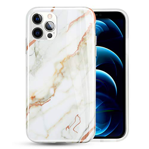 deco fairy iphone 6 case rubbers EMZHOLE for iPhone 12 Pro Max Case Girls Woman Stylish Shiny Fashion Luxury Marble Soft TPU Bumper Silicone Shockproof Protective Case Cover for iPhone 12 Pro Max 6.7 inches - White