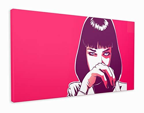 M2M Prints Pulp Fiction Mia Wallace - Stampa su tela pop art, 70 x 50 cm