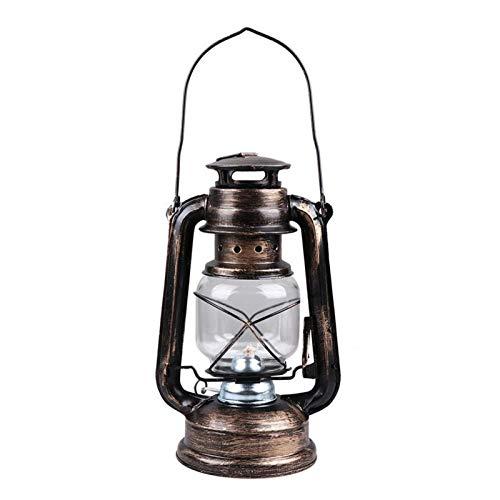 YIBANG-DIANZI Outdoor lights Vintage Kerosene Lamp Iron Portable Hanging Lantern Outdoor Desktop Adornment Photo Props For Home Decoration For courtyard